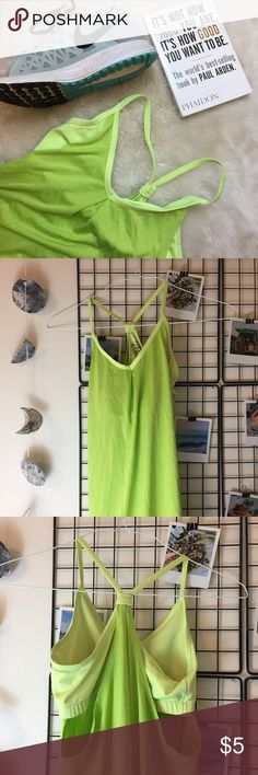 BUILT IN BRA WORKOUT TANK Used condition. Stylish too! Most offers are accepted! Questions? ask below! shoes/book not for sale Champion Tops Tank Tops