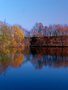 Indian summer reflections at the pond. Klaffer am Hochficht, Österreich / Austria