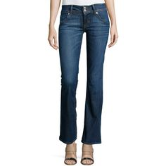 Hudson Signature Boot-Cut Jeans ($198) ❤ liked on Polyvore