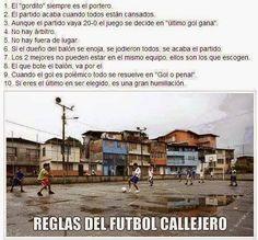 FLOJOS POR LA COPA: LAS REGLAS DEL FUTBOL CALLEJERO..