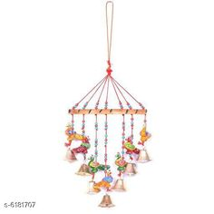 Wind Chimes Trendy Wall Decor Material: Paper Mache Pack: Pack of 1 Product Breadth: 20 cm Product Height: 48 cm Country of Origin: India Sizes Available: Free Size   Catalog Rating: ★4.2 (700)  Catalog Name: Classy Religious Wall Hangings CatalogID_943507 C127-SC1619 Code: 871-6181707-
