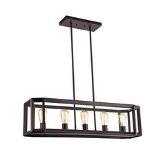 Shop for Chloe Industrial 5-light Oil Rubbed Bronze Pendant. Get free shipping at Overstock.com - Your Online Home Decor Outlet Store! Get 5% in rewards with Club O!