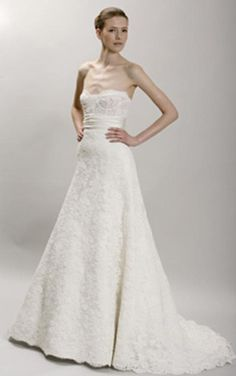 Monique Lhuillier Angelina Ivory Lace Wedding Gown