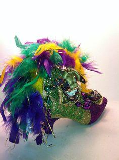 Mardi Gras New Orleans La 2012 Weird Shoes Crazy