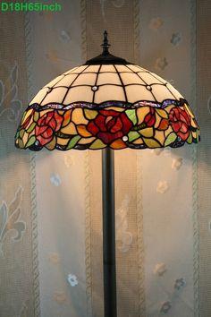 Rose Tiffany Lamp 18S0-51F5