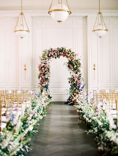 These High School Sweethearts Created an Indoor Garden at Their Texas Wedding This couple who is high school sweethearts, brought a lot of love into this indoor garden wedding theme. Using pastel colors and tons of flowers the day was truly beautiful! Wedding Flowers Cost, Bridal Flowers, Purple Wedding, Spring Wedding, Pastel Wedding Theme, Arch Flowers, Wedding Ceremony Flowers, Flowers Garden, Indoor Wedding Ceremonies