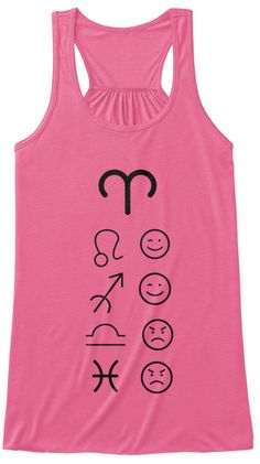 Aries Love Tanks Light Neon Pink T-Shirt Front