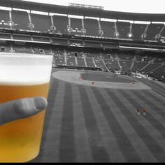 Beer at Braves game. Life is good.