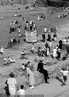 Newquay, Ice Cream Stall, Towan Beach 1925:
