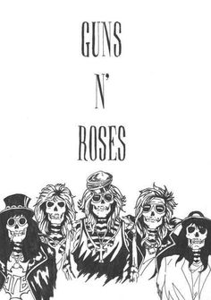 Guns and roses Guns And Roses, Axl Rose, Great Bands, Cool Bands, El Rock And Roll, Heavy Metal Rock, Welcome To The Jungle, Band Posters, Rock Posters