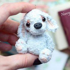 1000 схем амигуруми на русском: Голубой щенок амигуруми