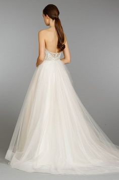 luxurious backless bridal gown