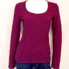 """J. Jill Purple Top This purple long sleeved J. Jill Crew Neck blouse is super comfortable to wear and very versatile. XS Stretch. 64% Cotton, 33% Nylon, 3% Spandex. Machine Wash Cold With Colors. Armpit to armpit 17"""", Length of Blouse 23.5"""", Sleeve Length 24"""". PLEASE NOTE: This is Stretch Xtra Small. J. Jill Tops Blouses"""