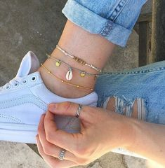 Ideas Jewerly Accessories Bracelets Classy For 2019 Ankle Jewelry, Cute Jewelry, Boho Jewelry, Women Jewelry, Anklet Bracelet, Bracelets, Beach Anklets, Gold Anklet, Ankle Chain