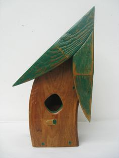 Bent Wooden Birdhouse by 3CreateDesign.