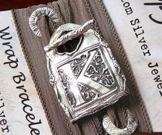 monogrammed K silk wrap bracelet...