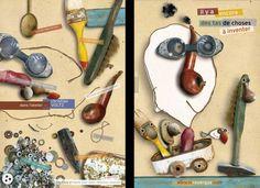 Affiche promotionnelle pour les editions du rouergue - recto / verso Paper Book, Wire Art, Art Plastique, Book Art, Creations, Arts And Crafts, Collage, Elephants, How To Make