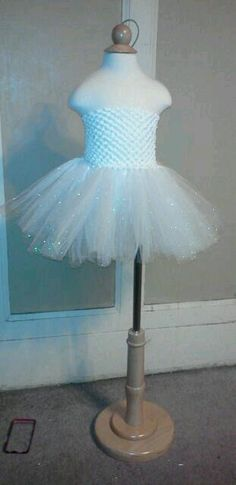 tutu dress    white top w/ sparkle white tutu