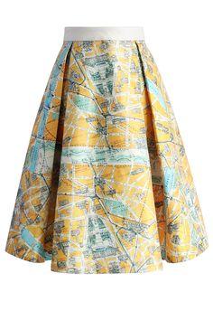 Wander in Paris Midi Skirt - New Arrivals - Retro, Indie and Unique Fashion