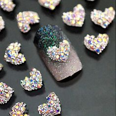 $1.84 1Pc Colorful 3D Nail Decoration 8mm Crystal Ball Filling with Glitter Powder Nail Art Decoration - BornPrettyStore.com