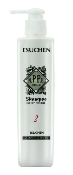 NPPE #2 Shampoo for Oily / Fine Hair . Extrato de Hamamelis e Aloe Vera. Uso diário para cabelos finos e oleosos. Orgânicos no SALONE.