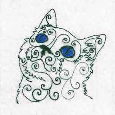 this free embroidery design is from design by sick s swirly cat faces ...
