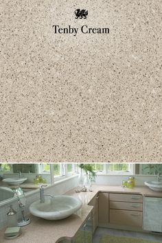 Flecks of deep brown balance out the soft beige base of Tenby Cream Cambria quartz. New Kitchen, Kitchen Ideas, Cambria Quartz Countertops, Design Palette, Deep Brown, Retirement, Base, Decorating, Cream