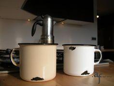 """Agaf Design """"I'm a Ceramic"""" mugs in the kitchen"""