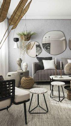 Living Room Mirrors, New Living Room, Spotlight Floor Lamp, Zara Home, Contemporary Interior, Decoration, Living Room Designs, Interior Design, Furniture