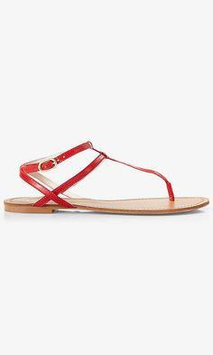 Thin T-strap Sandal | Express