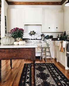 Again. Subway tiles. Island. Rug.