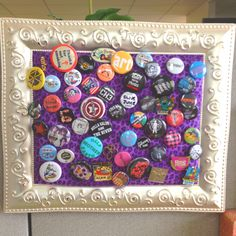 My DIY punk pin board - for Cody bottlecap collection?