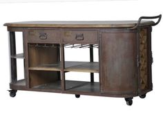 Large Metal Kitchen Island On Wheels Rustic Industrial Make Me An Offer