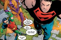 thefandomssecret:  This makes me laugh too much because Robin and Superboy are just perfect.