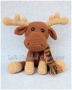 I made Marty the Moose to go with Randall the Reindeer, because I thought he needed a friend. While I think of reindeer as being a Christmas animal, a moose makes me think more of autumn for some reason. In any case, Marty the Moose would make a great stuffy to put on a shelf with your holiday decorations, but he's also soft and cuddly for little ones to hug. Marty will be available free on my blog soon, or you can help support me and purchase a printable pattern here.