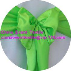 31 pcs #160 Lime Green  Wedding Satin Chair Sash,Satin Sash for Weddings Events &Banquet &Party Decoration