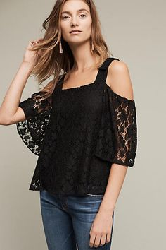 Bowed Lace Top - anthropologie.com