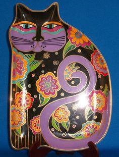 Laurel Burch Cat Plate