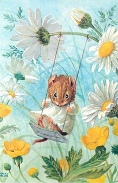 Racey Helps postcard | eBay - cute little mouse