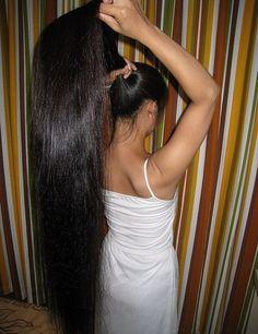 long beautiful ponytail