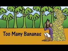 "Too Many Bananas: Learn English (UK) with subtitles - Story for Children ""BookBox.com"" - YouTube"