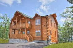 Morning View Manor - You will experience a view you could only dream of in Morning View Manor. Located at the pinnacle of HearthSide at The Preserve. 12 bedrooms cabin with 3 levels with a deck on 2 levels.
