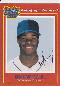 Search for Jumbo California Sunflower Seeds. Search for Jumbo California Sunflower Seeds - [Base]. Baseball Cards For Sale, Ken Griffey, Seattle Mariners, Sunflower Seeds, California