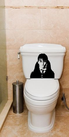 Moaning Murtle on bathroom mirror