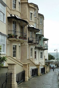Sion Hill, Bristol - a townhouse in this area could command $1,800,000. Love the balconies.