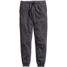 H&M Sweatpants Skinny fit ($19) via Polyvore featuring bottoms, dark grey and h&m