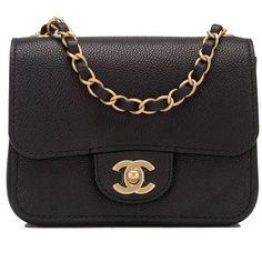 dfb8a41726f9 Chanel Black Caviar Square Mini Classic Flap Bag Chanel Mini Square