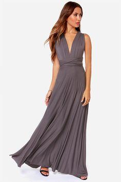 Anna Rose - LULUS Exclusive Tricks of the Trade Grey Maxi Dress at Lulus.com! Grey Maxi, Gray Dress, Long Junior Dresses, Infinity Dress, Casual Dresses, Plus Size Maxi Dresses, Bridesmaid Dresses, Prom Dresses, Summer Dresses