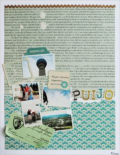 Puijo tower themed scrapbook work by Anski at cute & cool creations.