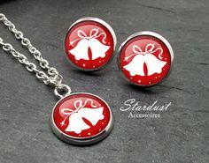 Schmuckset silber ❅ Weihnachtsglocken ❅ von Stardust Accessoires auf DaWanda.com